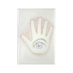 Rainbow Petro EyeHand Rectangle Magnet