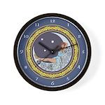 Celtic Moon Wall Clock
