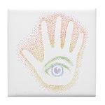 Rainbow Petro EyeHand Tile Coaster