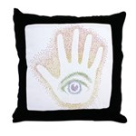 Rainbow Petro EyeHand Throw Pillow