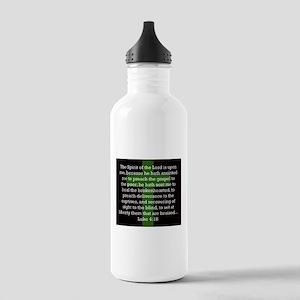 Luke 4-18 Water Bottle