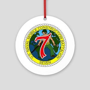 USNMCB 7 Ornament (Round)