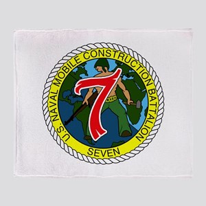 USNMCB 7 Throw Blanket