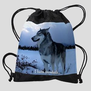zzz i hate snowballs 6 cr en Drawstring Bag