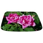 Two Pink Roses Bathmat