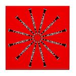 Wheel of Clarinet Tile Trivet