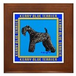 KERRY BLUE TERRIER Framed Tile