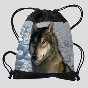a Cosmo snow smoothed and en2 Drawstring Bag