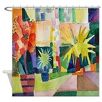 August Macke Tropical Painting Shower Curtain