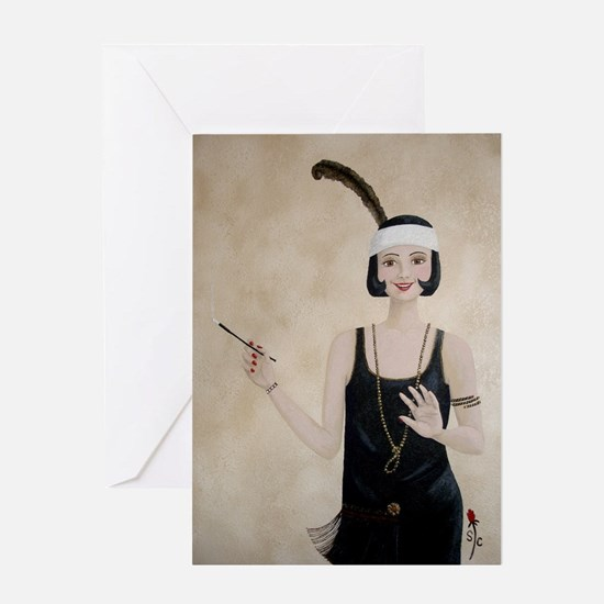 StephanieAM Flapper Greeting Card