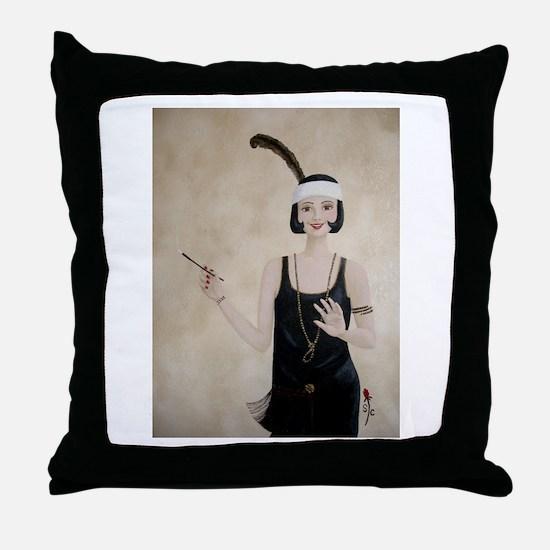 StephanieAM Flapper Throw Pillow