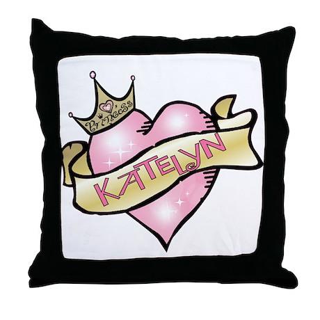 Sweetheart Katelyn Custom Princess Throw Pillow