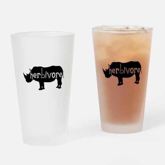 Rhino - Herbivore Drinking Glass