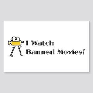 Banned Movies! Rectangle Sticker