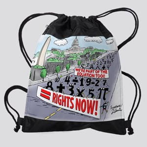 Pi_74 Equal Rights (20x16 Color).jp Drawstring Bag