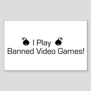 Banned Video Games! Rectangle Sticker