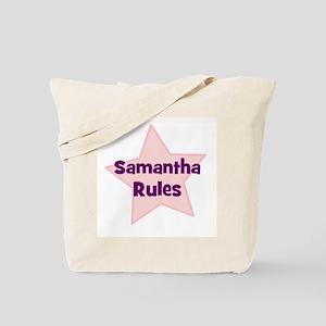Samantha Rules Tote Bag