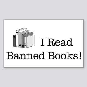 Banned Books! Rectangle Sticker