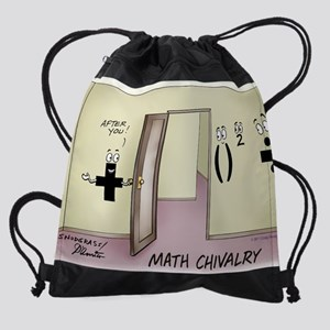 Pi_68 Math Chivalry (20x16 Color).j Drawstring Bag