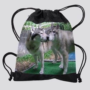 magnet Cosmo and Betty cr en Drawstring Bag