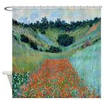 Claude Monet Poppy Field French Shower Curtain