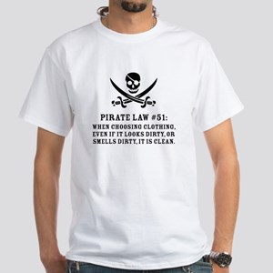 Pirate Law 51 White T-Shirt