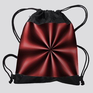 Graphic Marsala Drawstring Bag