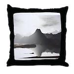 Primal Lake Throw Pillow