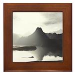 Primal Lake Framed Tile