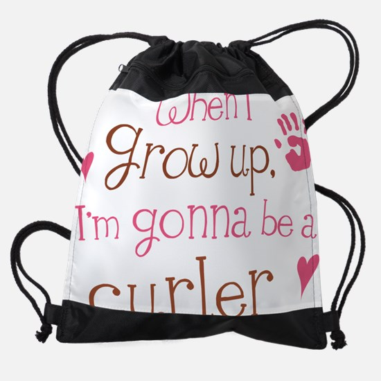 curler_future_pink.png Drawstring Bag