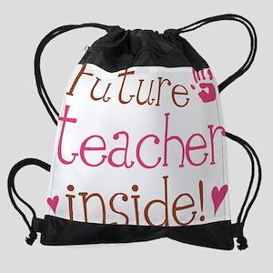 teacher inside Drawstring Bag