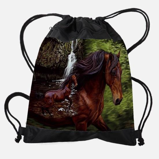 stillnessIM.jpg Drawstring Bag