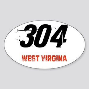 304 Oval Sticker