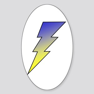 The Lightning Bolt 3 Shop Oval Sticker