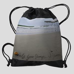 You Jump, I Jump by Beachwrite Drawstring Bag