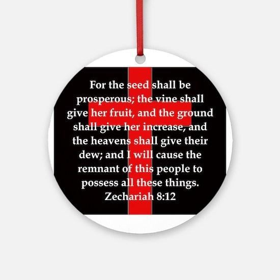 Zechariah 8-12 Round Ornament