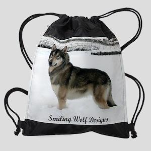 cal Logo snow USE Drawstring Bag