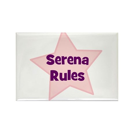Serena Rules Rectangle Magnet
