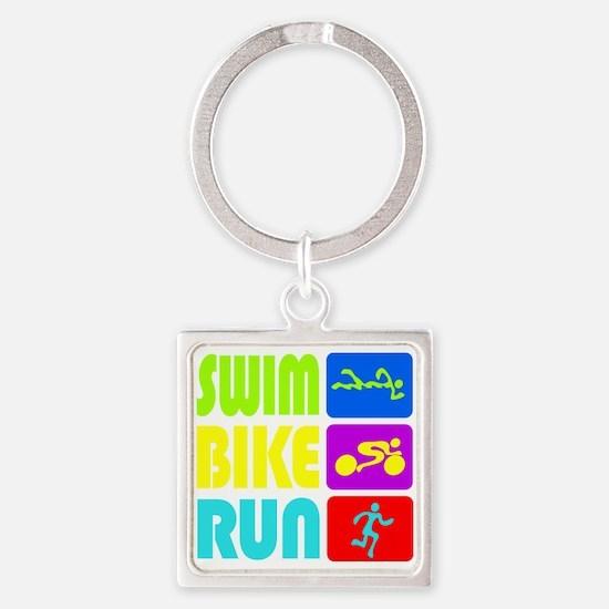 TRI Swim Bike Run Figures Keychains