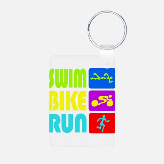 TRI Swim Bike Run Figures Keychains