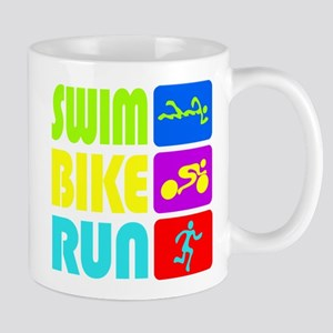 TRI Swim Bike Run Figures Mug