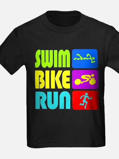 TRI Swim Bike Run Figures T-Shirt