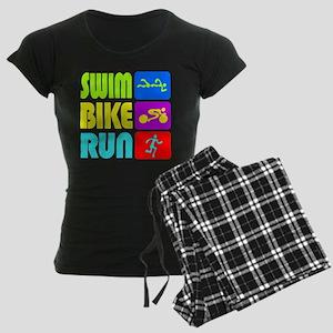 TRI Swim Bike Run Figures Pajamas