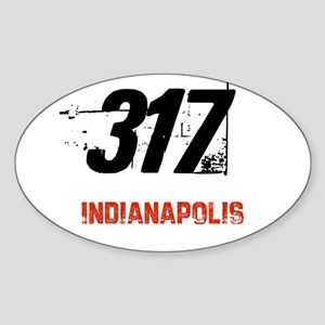 317 Oval Sticker