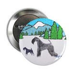 KERRY BLUE TERRIER Button