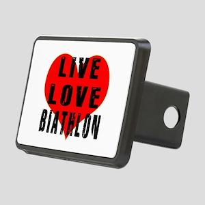 Live Love Biathlon Rectangular Hitch Cover