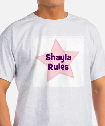 Shayla Rules Ash Grey T-Shirt