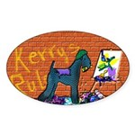 KERRY BLUE TERRIER Oval Sticker
