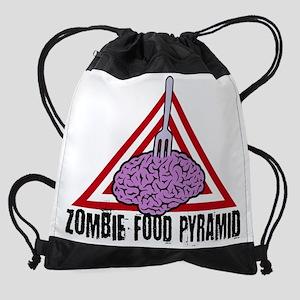 Zombie Food Pyramid Drawstring Bag