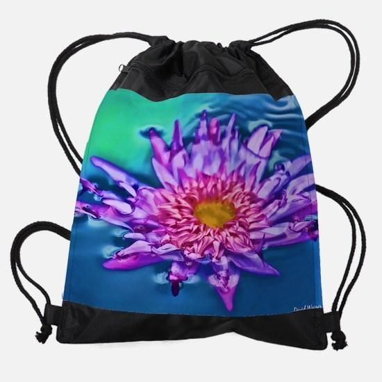 Drowning Lily Drawstring Bag